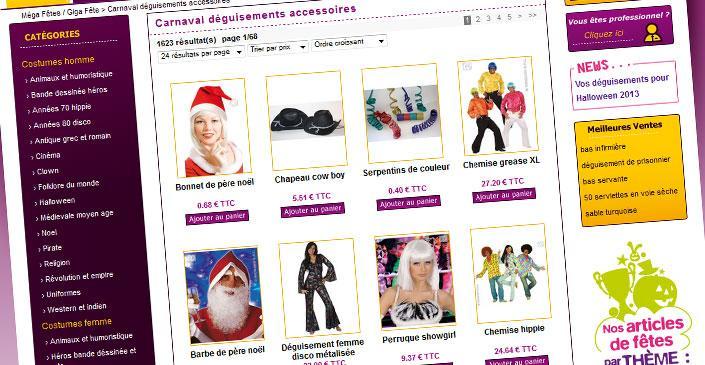 E-commerce articles de fête - Giga Fête