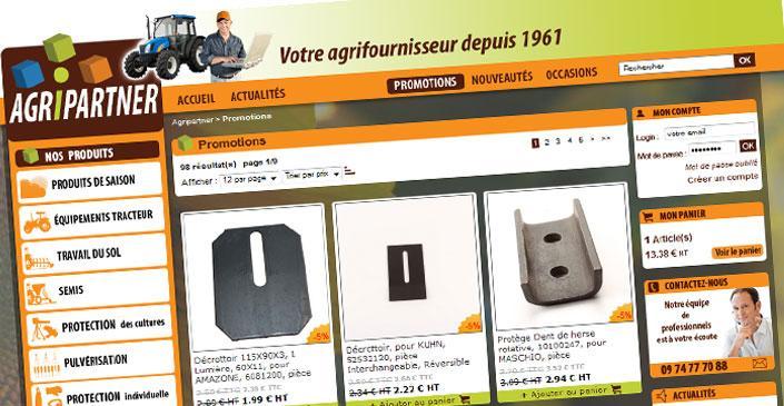 E-commerce matériel agricole - Agripartner