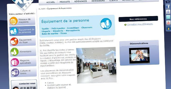 Site catalogue éditeur logiciels - XL Soft