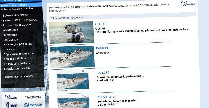 Site catalogue nautisme - Atelier Nautique de Jade