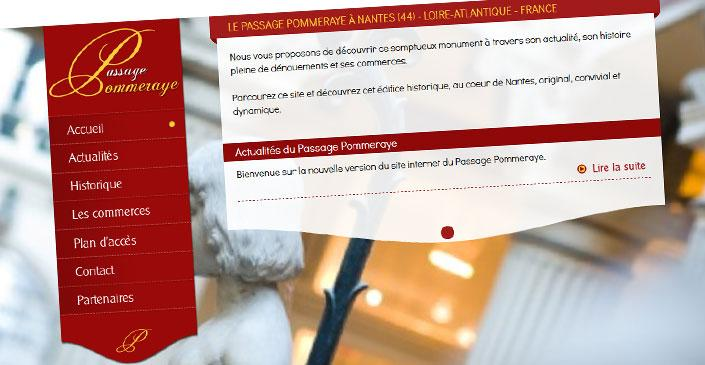 Site catalogue touristique - Passage Pommeraye