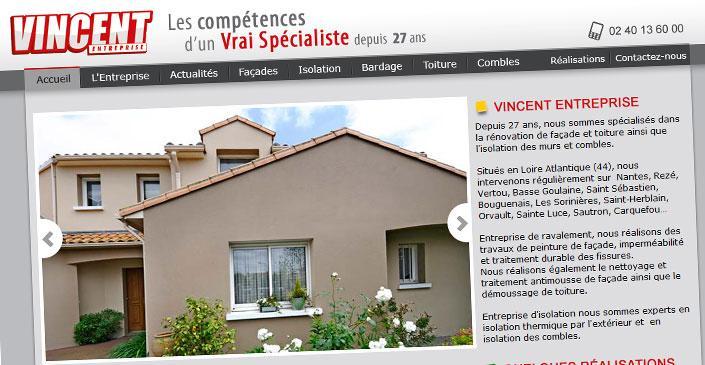 Site vitrine artisan façades - Vincent Entreprise