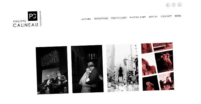 Site vitrine et Blog photographe - Philippe Cauneau